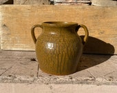 Whelchel Meaders Mossy Creek Pottery Two Handled Pot