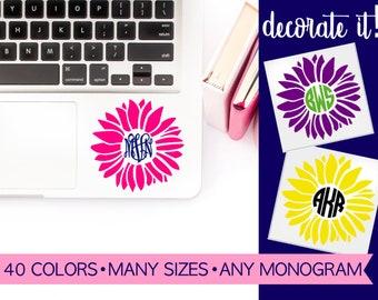 Flower Monogram Computer Stickers LPMG2A