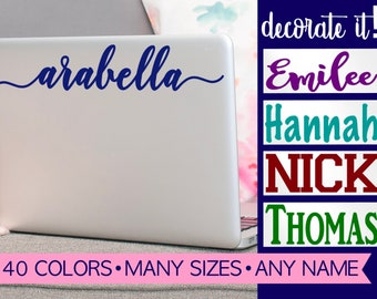Laptop Stickers | Laptop Decal | Computer Decal | Name Laptop Decal | Laptop Decal Name | Name Decal for Laptop | Tablet Decal LPLN0A