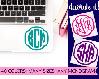 Laptop Decal Stickers | Cute Laptop Stickers | Stickers Laptop | Laptop Monogram | Monogram for Laptop | Sticker for Laptop LPMG5A