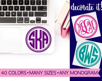 Monogram Sticker for Laptop | Laptop Decal | Laptop Sticker | Computer Decal | Computer Stickers | Decal for Laptop | Stickers Laptop LPMG4A