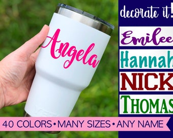 Vinyl Name Decal | Name Decal for Tumbler | Cup Decal Name | Personalized Name Stickers | Custom Name Decal Sticker | Vinyl Name Label 5LN0Y