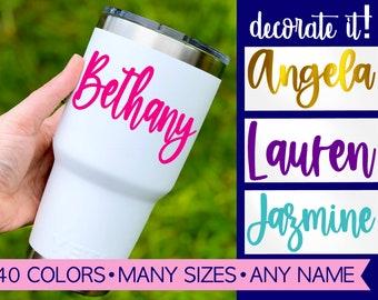 Name Decal, Yeti Name Stickers, Custom Name Sticker, Decals For Cars, Decal Stickers, Decals For Cups, Name Decals and Stickers for Labeling