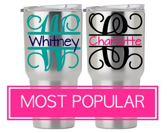 Custom Yeti Tumbler Decal, Yeti Decal Name, Custom Yeti Rambler Decal, Yeti Cup Decal for Women, Vinyl Name Decal Stickers, DECAL ONLY 5LN2Y