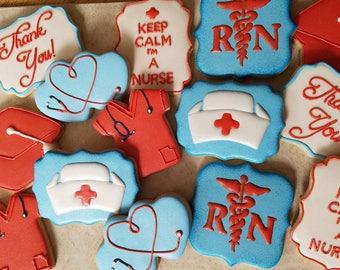 One (1) dozen Nurse cookies
