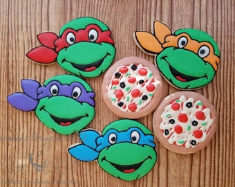 one (1) dozen TMNT cookies