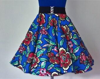 Girls Rockabilly fluted 1950's skirt,handmade, undernetting, dancing skirt/fashion dress up!