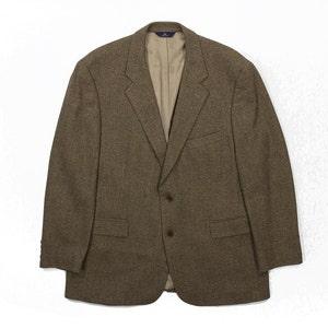 Men/'s Size 45 XL Ex Brown Brooks Brothers Lambswool Tweed Jacket Blazer Sport Coat Wool Preppy Heritage Trad Ivy League Style