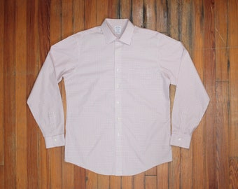 Semi transparent Swiss cotton formal shirt with extra collar /& cuffs XL size Vintage dead stock In excellent condition. 90s dress shirt
