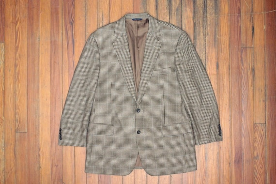 Pure Wool Winter Warm Sport Coat Tweed Blazer Men Preppy Houndstooth Urban Preppy Style Retro Sport Large XL Dusty Blue Tweed Blazer Lar