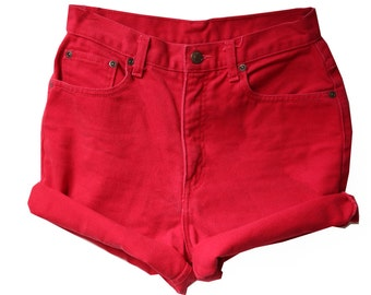SALE - Red High Waisted Shorts