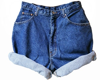 SALE - Vintage High Waisted Dark Wash