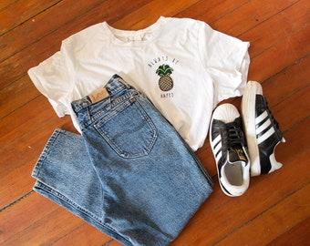 SALE - Acid Wash - High Waisted Jeans