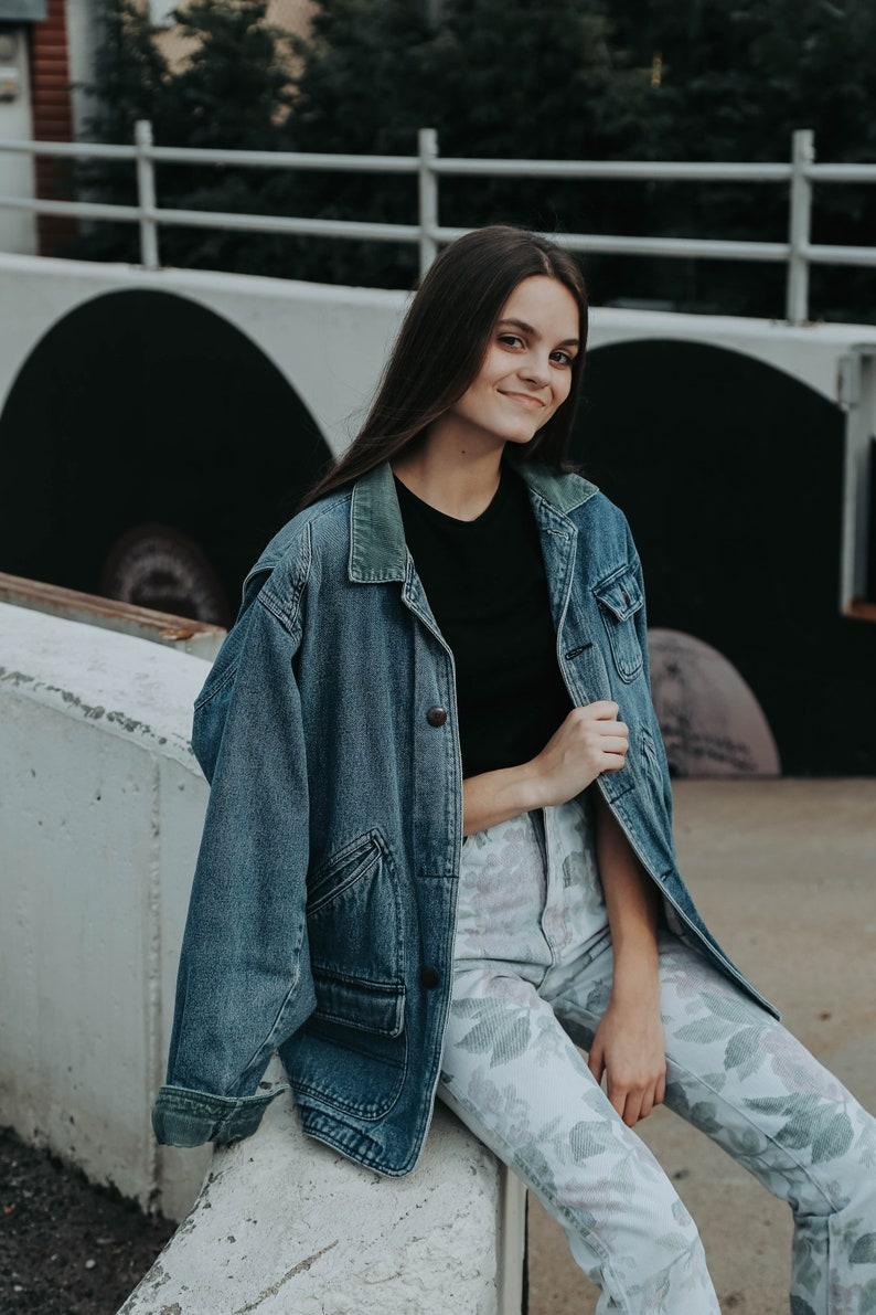 Ava Floral High Waisted Jeans