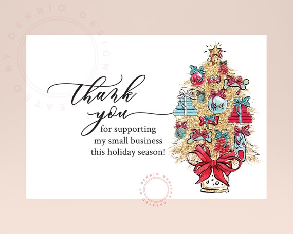 Business Christmas Cards.Business Christmas Cards Printable Thank You Business Holiday Card Download 4 X 6 Pdf 8 5 X 11 Jpg Sheet 300 Ppi Jpg Files