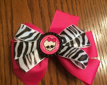 Monster High Hair Bow, Girls Hair Bow