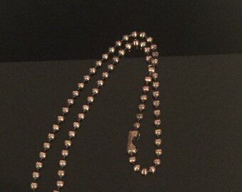 4mm Copper Ball Chain Necklace