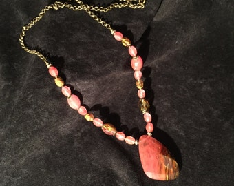 Fire Cherry Quartz Pendant Necklace
