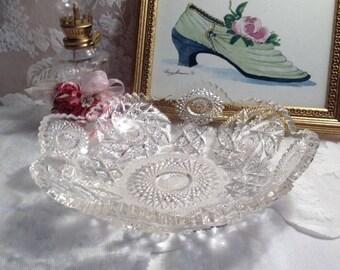 Sparkling Glass Bowl Mid 1940