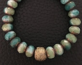Blue Bronze Bracelet with...