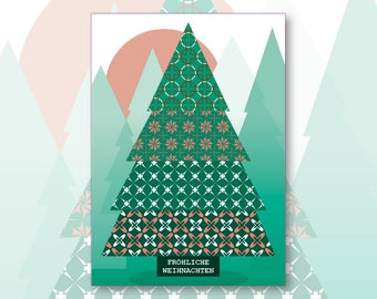 Karte Weihnachten.Karte Weihnachten Etsy