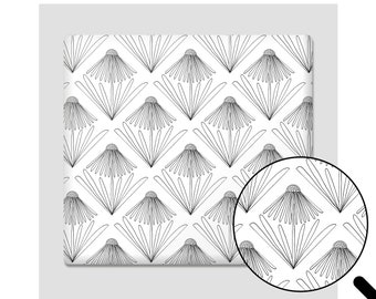 Gift wrapping paper daisies, 3 sheets in a set, DIN A2