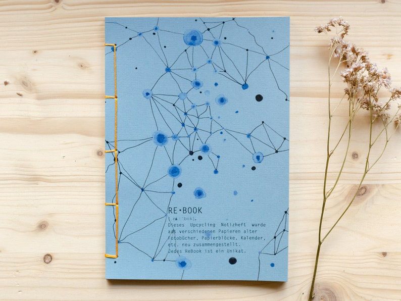 recycled notebook A5 ReBook Upcycled Notebook image 0