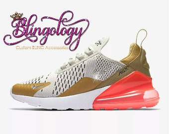 Womens Nike Air Max 270 Gold 90990bdd70