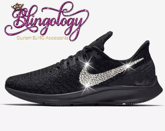 Womens Nike Air Max 270 Black White Custom Bling Crystal  92441df441