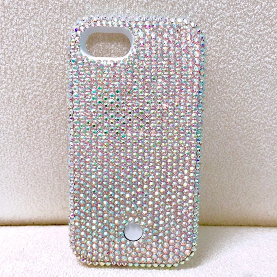 8b7909875 Custom Bling Swarovski Crystal LED iPhone 6 Phone Case 100% | Etsy