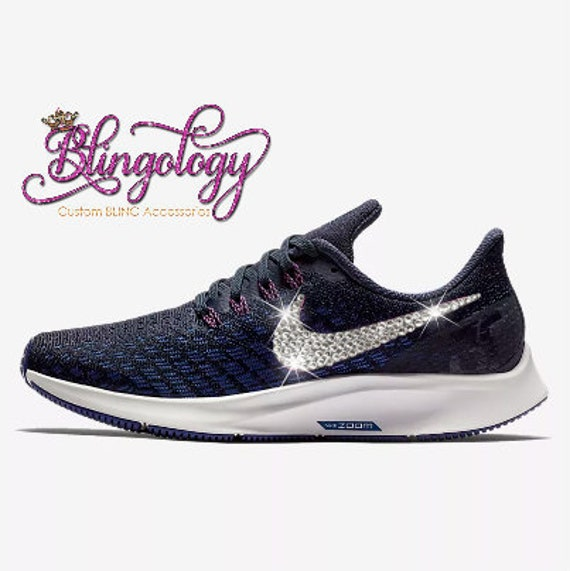 Womens Nike Air Zoom Pegasus 35 Obsidian Royal Blue White  bc36164e05eb