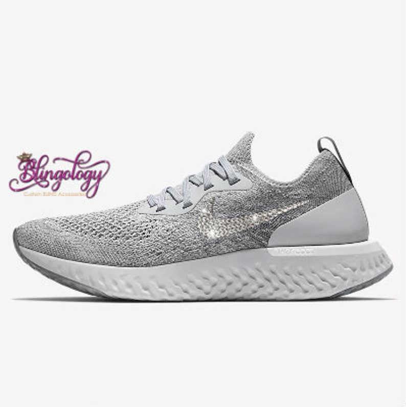b6b3598cfb04 Womens Nike Epic React Flyknit Wolf Grey Cool Grey Pure