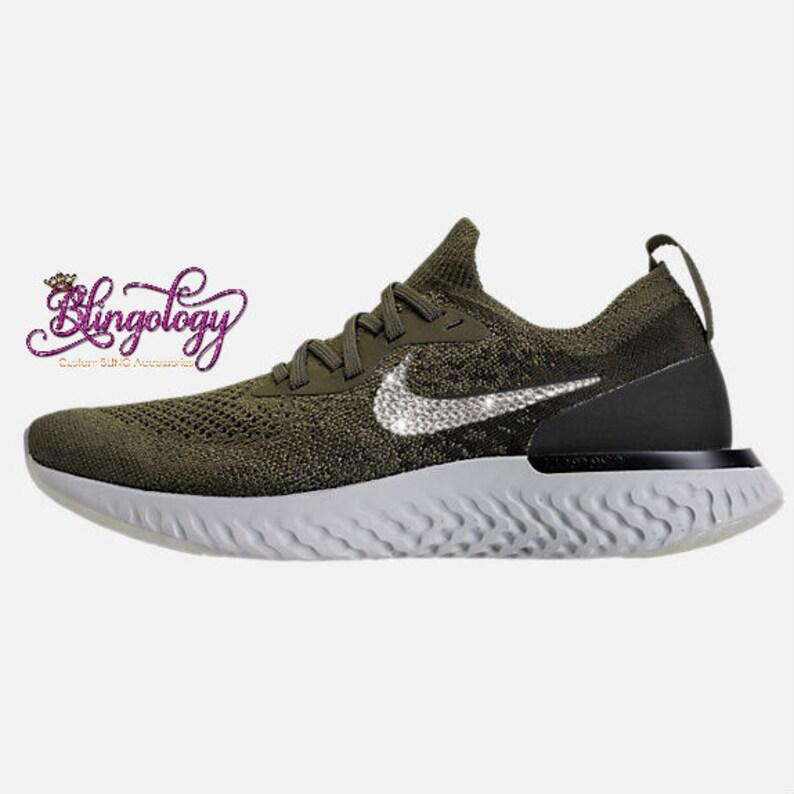 the latest 9c2f4 9a456 Womens Nike Epic React Flyknit Cargo Khaki Black Sequoia Light   Etsy