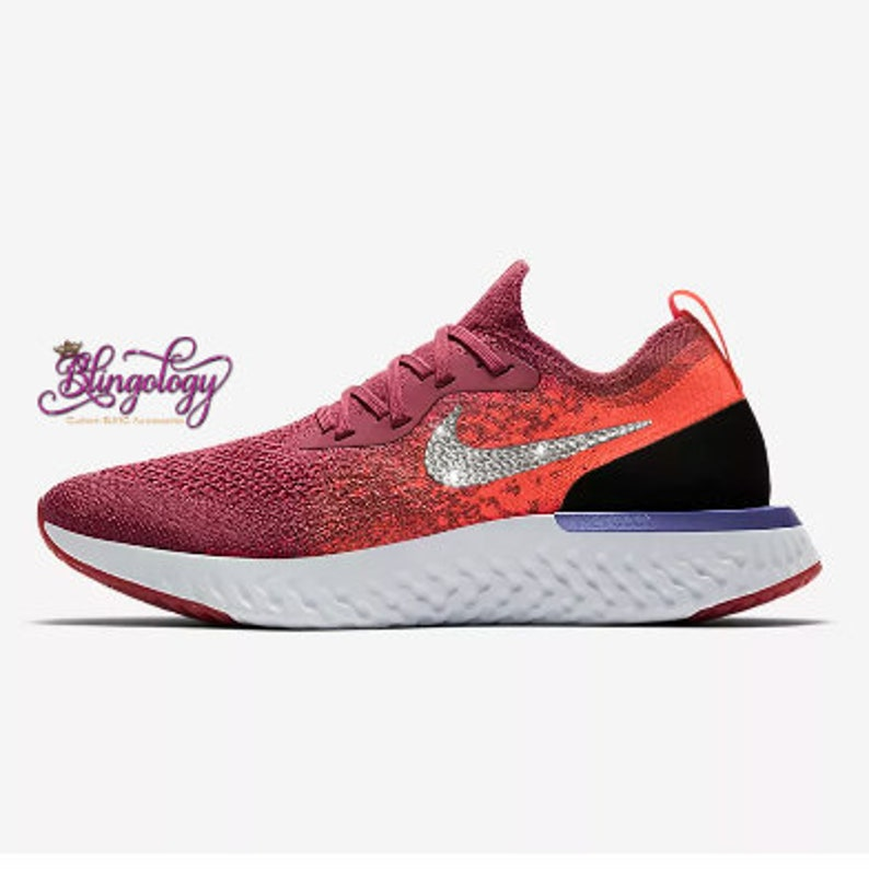 new styles 05838 05dc5 Womens Nike Epic React Flyknit Rust Pink/Hyper Crimson/Barely | Etsy