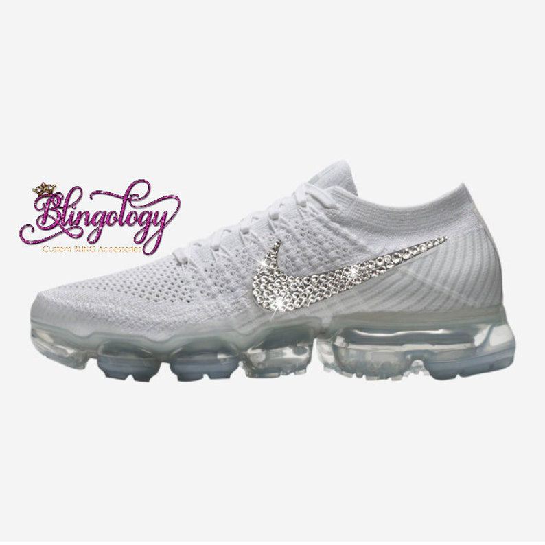 f5453bab2f Womens Nike Air VaporMax Flyknit String/Chrome/Grey Custom   Etsy