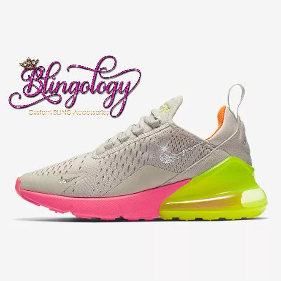 Womens Nike Air Max 270 Sand Volt Orange Hot Punch Custom  de2367c5c