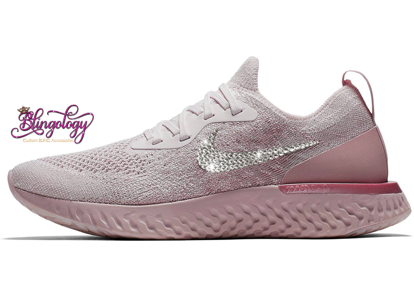 a77a1a3743c2 Womens Nike Epic React Flyknit Pearl Pink Pearl Pink Barely