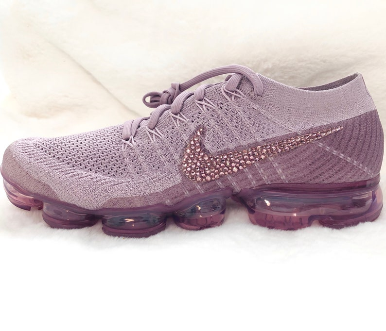 differently 1bee5 4e44a Womens Nike Air VaporMax Flyknit Violet, Plum, Dust Custom Bling Crystal  Swarovski Sneakers, Running Shoes, Tennis Shoes, Nikes Size 9.5 US
