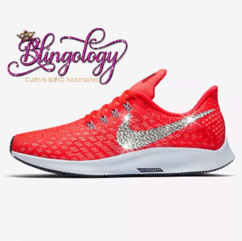 910d3812c663 Womens Nike Air Zoom Pegasus 35 Crimson Red Grey Custom
