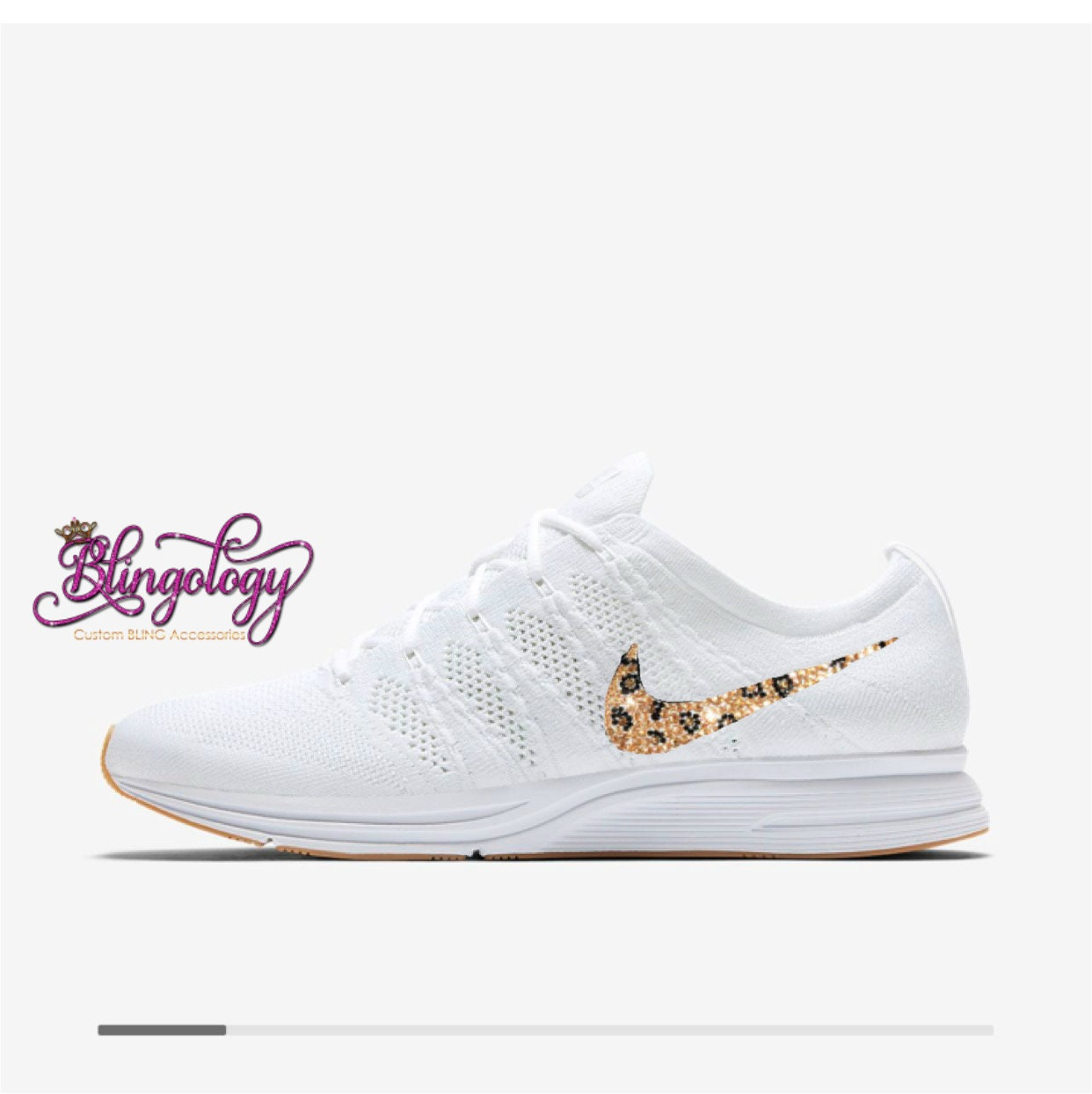 Womens Nike Flyknit Trainer White White Gum Light Brown  49e30fcb0