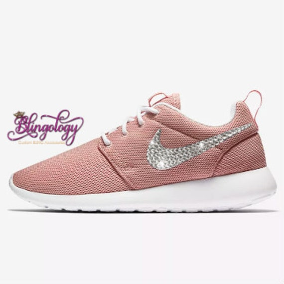 official photos 2010d 8b3a3 Womens Nike Roshe One Coral Stardust White Custom Bling Crystal Swarovski  Sneakers, Running Shoes, Tennis Shoes, Nikes