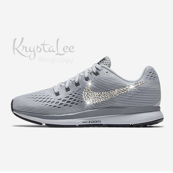 Womens Nike Air Zoom Pegasus 34 Pure Platinum Grey White  57efc57ad2bb