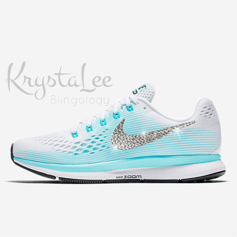 0a40be50f2f5 Womens Nike Air Zoom Pegasus 34 White Aurora Black Custom