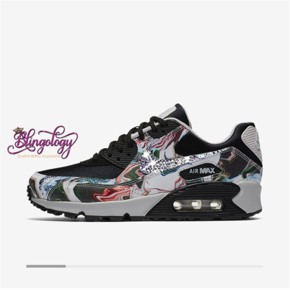Womens Nike Air Max 90 Ultra Marble Black Vast Grey Black  44813e42a