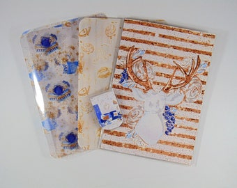 3 Traveler's notebook Dashboards and page marker - Crisp Winter (if ordering standard size please read listing)