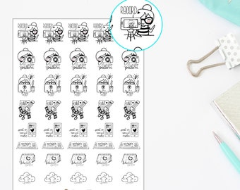 Bunnie - Blogger character planner stickers.