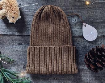 d21782aca29 Cappuccino merino cashmere wool kids hat