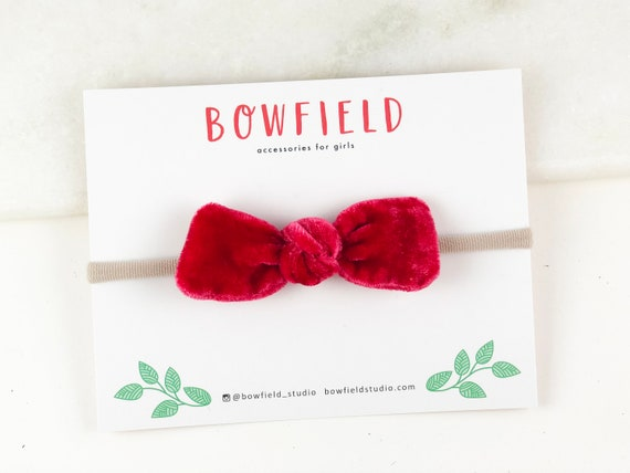 Red velvet baby headband newborn headband baby girl baby  0306f518fab