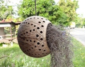 Coconut shell hanging,air planter pots,eco decor garden, candle holder hanging,rustic product,succulent indoor outdoor plants