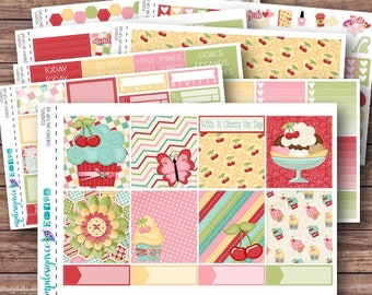Cherry on Top Weekly Kit | Summer Planner Stickers | ECLP | Happy Planner | Recollections Planner | Weekly Planner Stickers